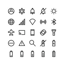 Mobile App User Interface Icons