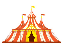Vintage Circus Tent. Illustrat...