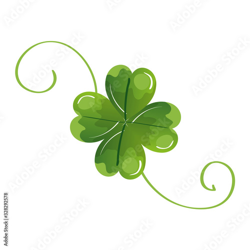Canvas Print clover of four leafs isolated icon vector illustration designicon
