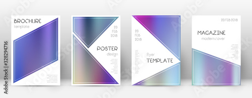 Photo Flyer layout. Triangle appealing template for Broc
