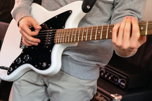 Electric Guitar In The Hands O...
