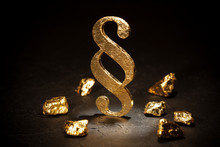 Gold Paragraph Sign And Gold N...