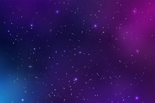 Beautiful Space Background Vec...