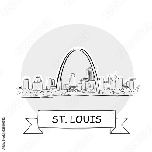 Canvas Print St. Louis Cityscape Vector Sign