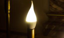 Light Of The Led Lamp On Black...