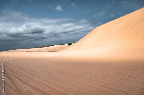 Scenery sand dunes in Muine desert at Vietnam Canvas Print