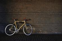 Commuting Bike In Vintage Style In Dark Garage