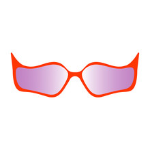Red Glasses With Unusual Shape...