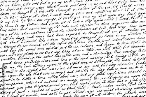 Stampa su Tela Monochrome background of careless ink writing