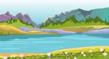 Vector Horizontal Landscape Wi...