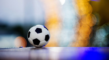 The Soccer Ball Is Placed On A...