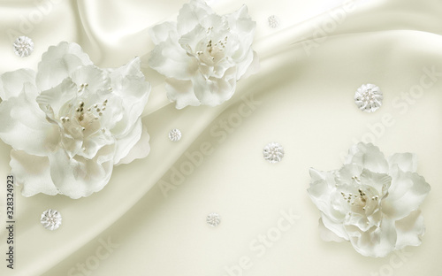 Obraz kwiaty   3d-flowers-flower-white-silver-blossom-nature-pink-spring-isolated-petal-plant-floral