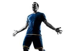 Soccer Player Man Happy Celebr...