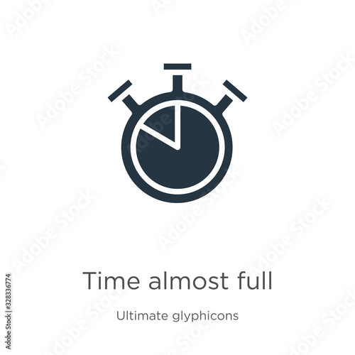 Time almost full icon vector Poster Mural XXL