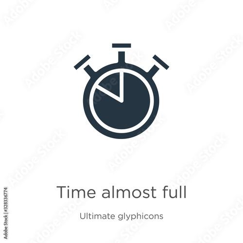 Obraz na plátne Time almost full icon vector