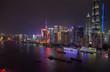 Shanghai boats on Huangpu river at Pudong New Area