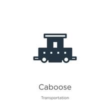 Caboose Icon Vector. Trendy Fl...