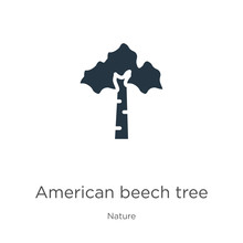 American Beech Tree Icon Vector. Trendy Flat American Beech Tree Icon From Nature Collection Isolated On White Background. Vector Illustration Can Be Used For Web And Mobile Graphic Design, Logo,