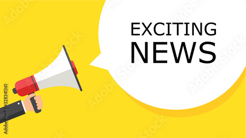 EXCITING NEWS Canvas Print