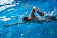 Professional Male Swimmer Craw...