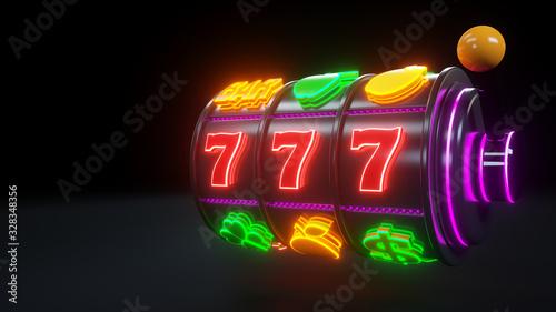 Papel de parede 777 Slot Machine With Fruit Icons