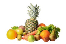 Still Life Of Fruit Isolated O...
