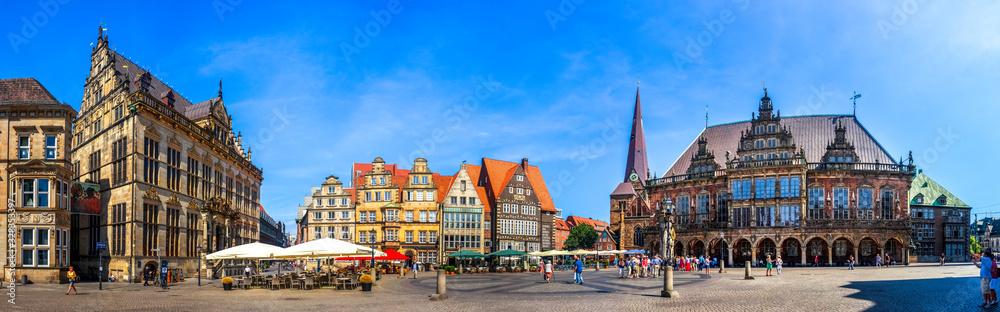 Fototapeta Rathaus und Marktplatz, Bremen, Deutschland