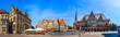 Leinwandbild Motiv Rathaus und Marktplatz, Bremen, Deutschland