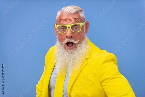 Obraz Hipster senior man portrait - fototapety do salonu