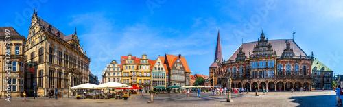 Leinwand Poster Rathaus und Marktplatz, Bremen, Deutschland
