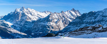 Wide Parnoramic View Of Snow C...