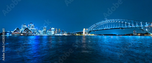 Sydney skyline after the sunset Wallpaper Mural