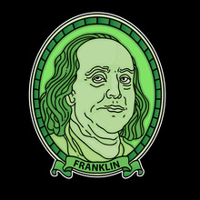 Cartoon Benjamin Franklin Dollars