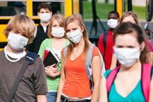 School Students Wearing Medica...