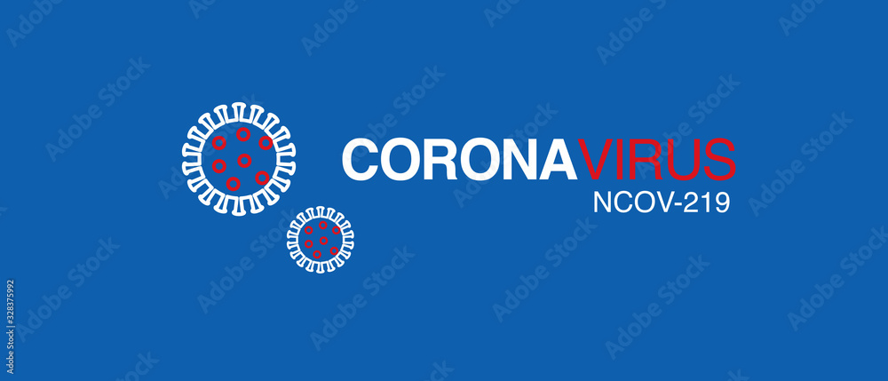 Fototapeta coronavirus logo  2019-nCoV covid-19 corona virus vector