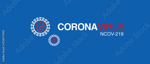 Obraz coronavirus logo  2019-nCoV covid-19 corona virus vector - fototapety do salonu