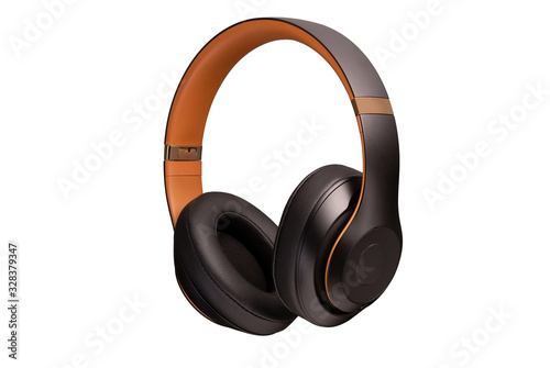 Photographie High-quality headphones on a white background
