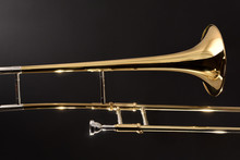 Golden Trombone Close-up With ...