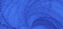 Blue Twirl Mosaic Background. Vector Graphic Pattern