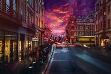 Burning Sunset On London Old S...