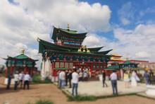 Famous Ivolginsky Datsan, Ulan-Ude, Ulan Ude, Buddhist Monastery, Buryatia Republic, Russia.