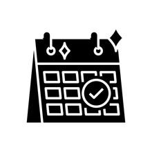 Schedule Release Black Icon, C...