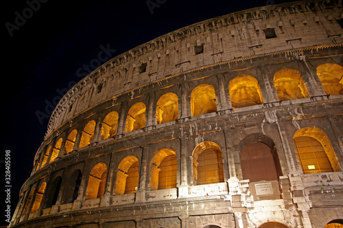 Valokuva The Colosseum, or Flavian Amphitheater, in Rome, Italy.