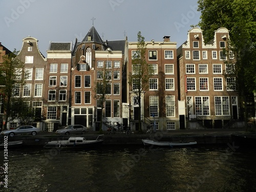 Amsterdam, The Netherlands, Canal Houses Canvas Print