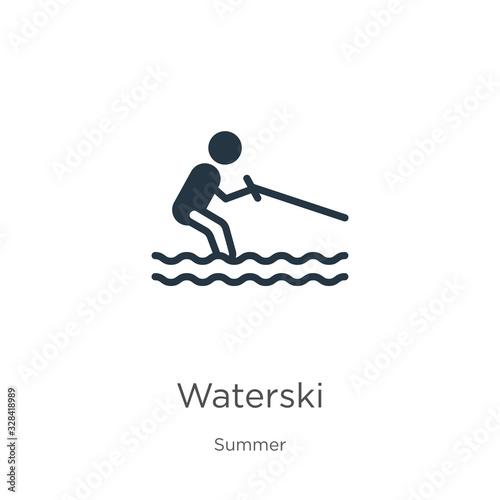Fényképezés Waterski icon vector