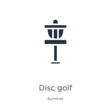 Disc Golf Icon Vector. Trendy ...