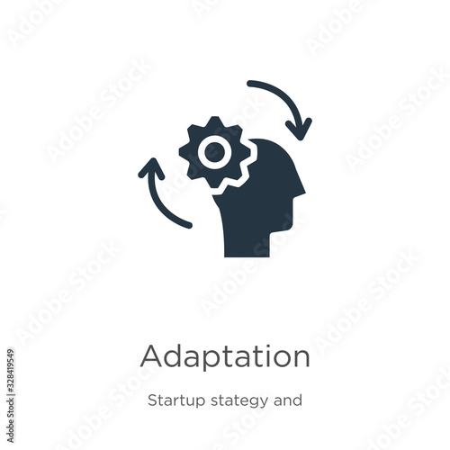 Adaptation icon vector Tableau sur Toile
