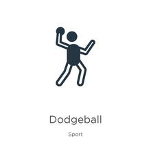 Dodgeball Icon Vector. Trendy ...