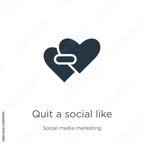 Quit a social like icon vector Canvas Print