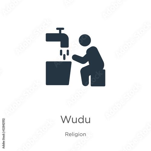 Wudu icon vector Canvas Print